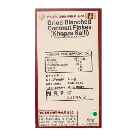 Dried Blanched Coconut Flakes
