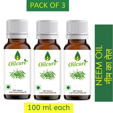Neem Oil Cold Pressed (Pack of 3)