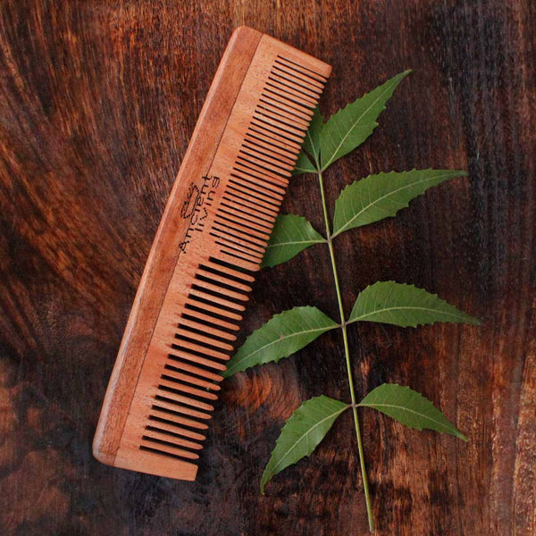 Neem Wood Comb (Two in One Model) at Qtrove