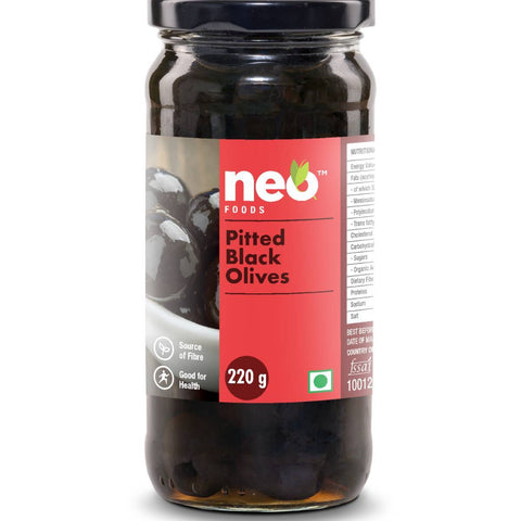 Neo Pitted  Black Olives Pack of 3