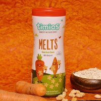Non-Fried Whole Grain Snack - Carrot & Cumin (Healthy Snacks for Kids 9+ Months)(Pack of 2)