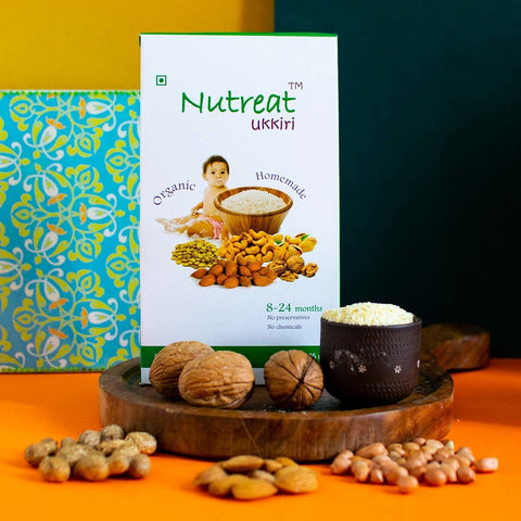Handcrafted Stage-1 Baby Food (Stone Grounded Rice, Lentils & Dry Fruits)