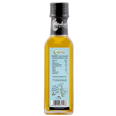Certified Organic FlaxSeeds Oil (Pack of 2) 200ml