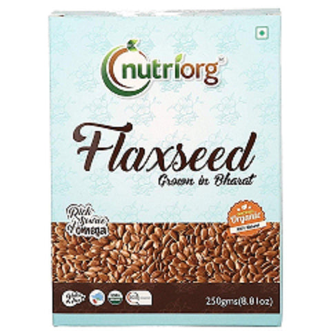 Certified Organic Raw Flax Seeds  (Pack of 2) 500gms