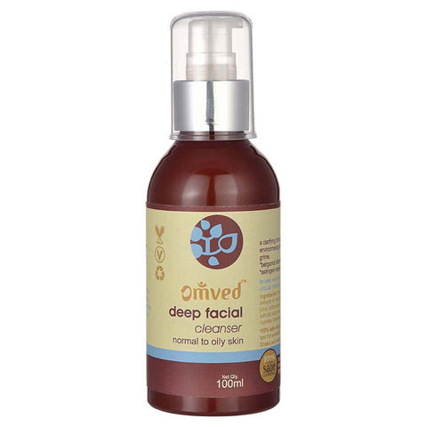 Deep Facial Cleanser - Ayurvedic Face Wash with Aloevera and Manjishtha for Normal to Oily Skin