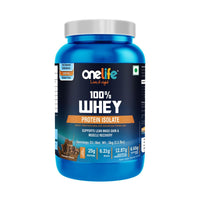 Onelife 100% Whey Protein Isolate Chocolate Flavour -1Kg