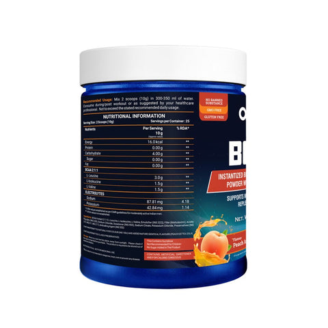 Onelife BCAA Peach Ice Tea -Supports Muscle Recovery 250gm