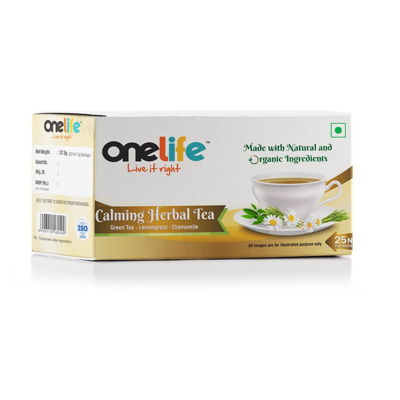 Onelife Calming Herbal Tea (Lemongrass & Chamomile - 25 Bags)
