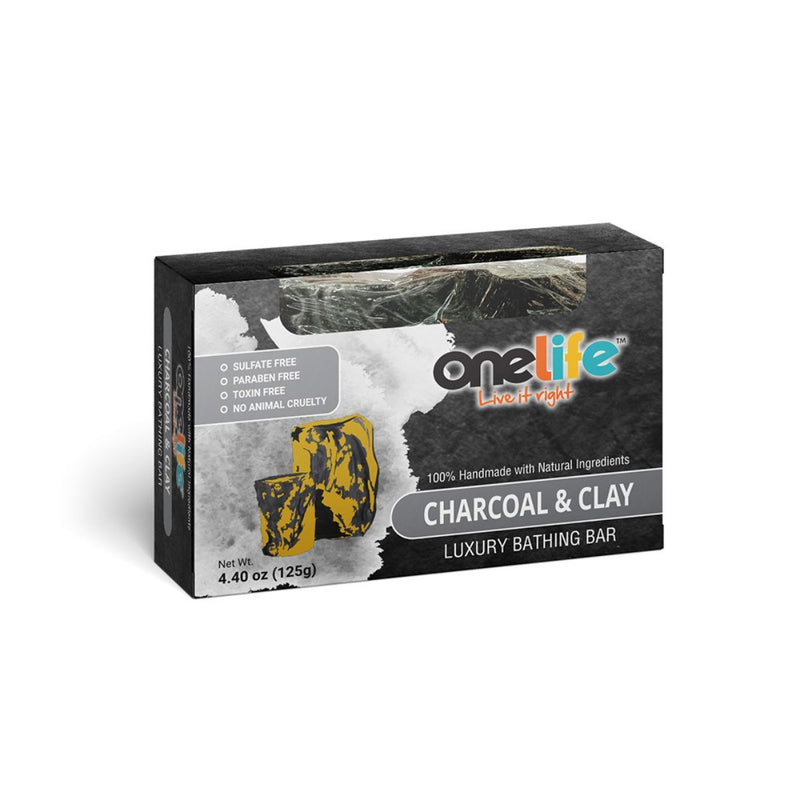 Onelife Charcoal And Clay Luxury Bathing Bar 100gm