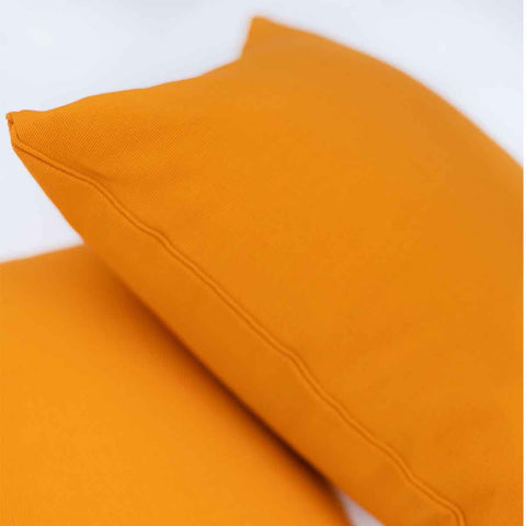 Orange Solid Cushion Cover (Single)