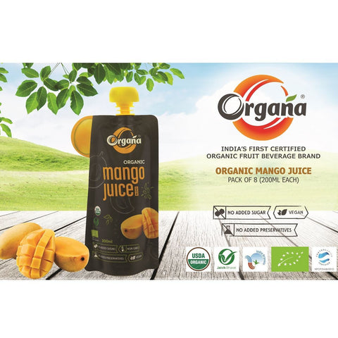 Organic Mango Juice (Pack of 8)
