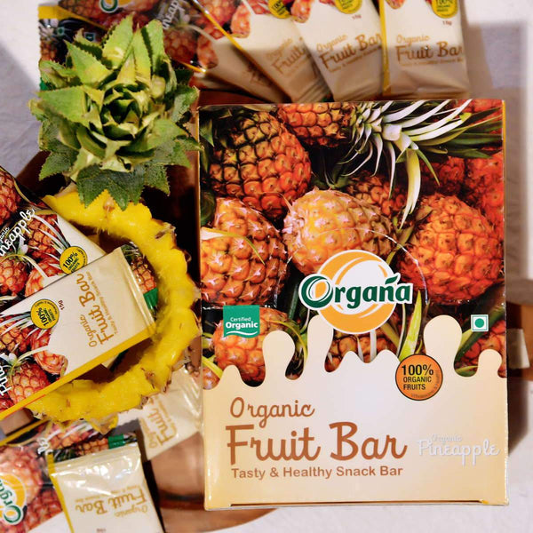Organic Pineapple Fruit Bar (20 Pieces) at Qtrove