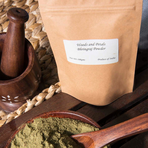 Organic Amla Hibiscus Bhringraj Powder (Pack of 3)