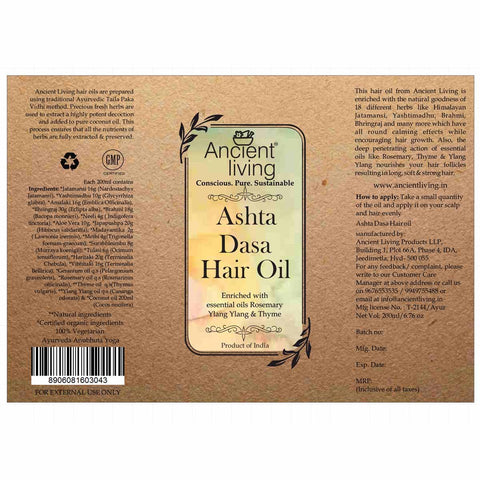 Organic Ashta Dasa Hair Oil