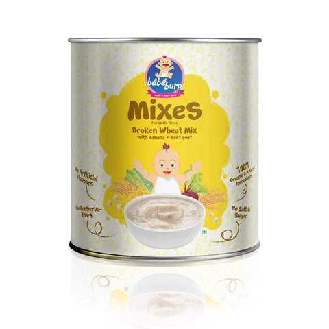 Organic Baby Food Instant Broken Wheat Mix For Infants