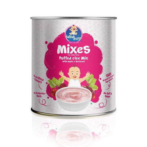 Puffed Rice Mix For Infants (With Apple + Beetroot)
