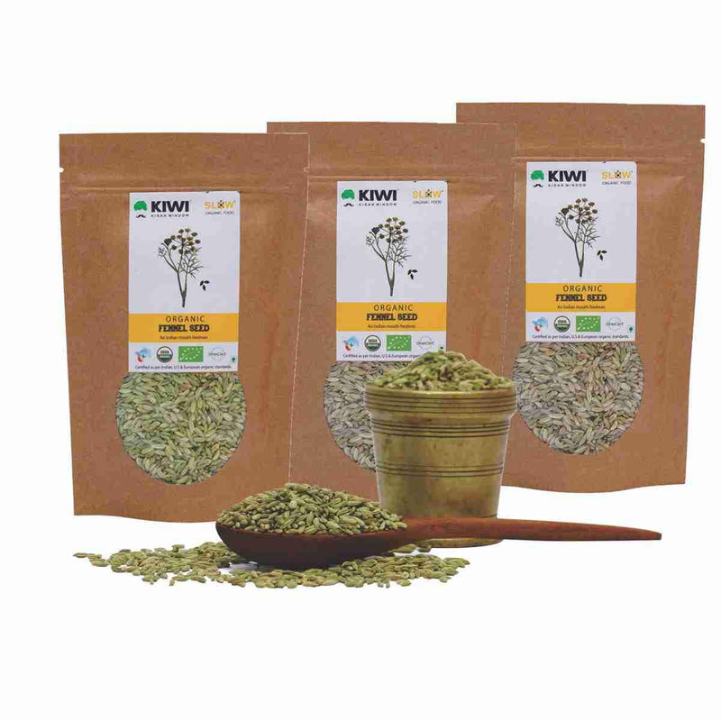 Organic Fennel Seeds (Pack of 3)