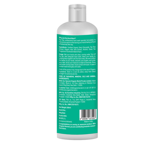 Hand Wash (With Goodness of Alcohol and Tea Tree), 500 ml