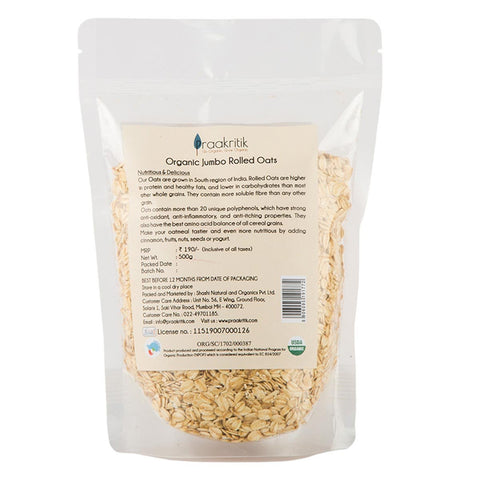 Organic Jumbo Rolled Oats (Pack of 2)
