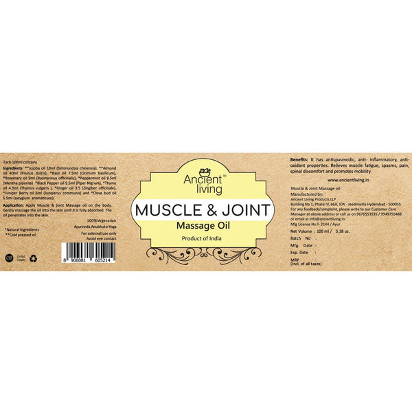 Organic Muscle & Joint Massage Oil at Qtrove