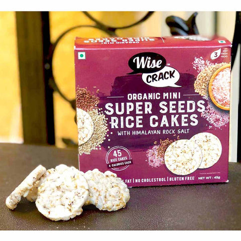Organic Rice Cakes (Brown Rice, Super Seeds, Triple Rice and Pepper & Spice) (Combo Pack of 4)
