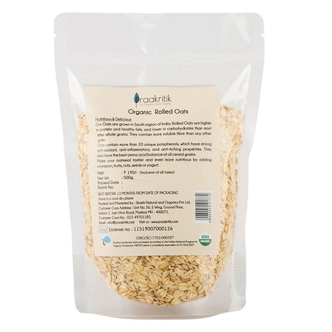 Organic Rolled Oats (Pack of 2)