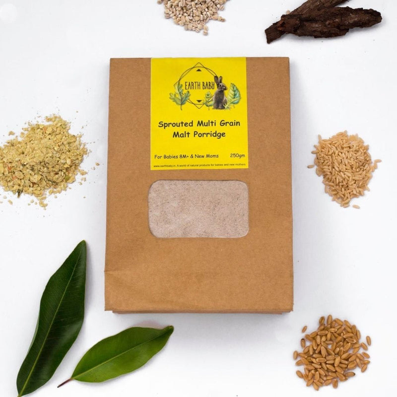 Organic Sprouted Multi-Grain Malt Porridge (For 8+ months Babies and New Moms)