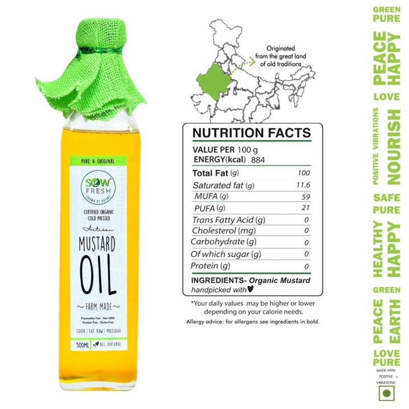 USDA Certified Cold Pressed Mustard Oil