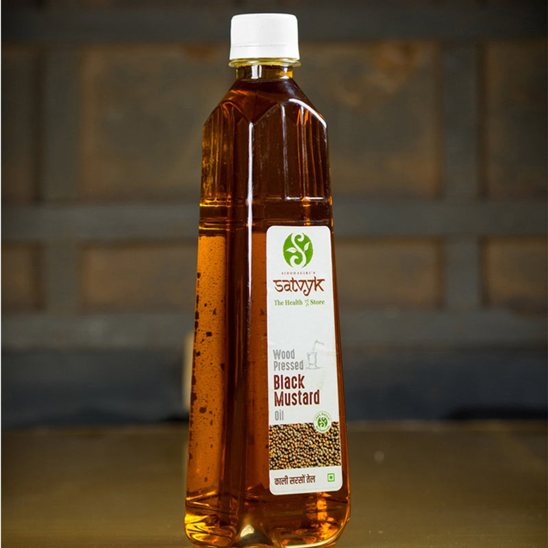 Black Mustard Oil -Organic & Wood-Pressed (1 l)