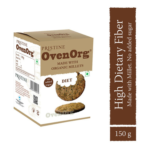 Ovenorg - Organic Mixed Millet Biscuits Diet ( Pack of 2)