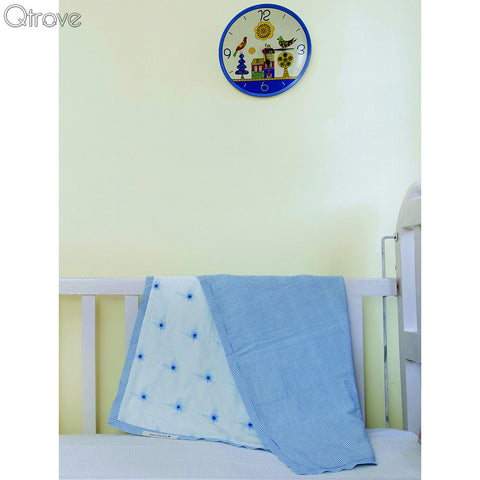 Blue Twinkle Star Certified Organic Blanket And Playmat