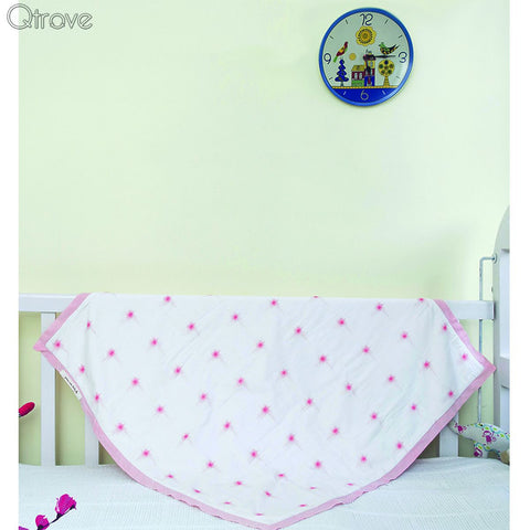Pink Twinkle Star Certified Organic Blanket And Playmat