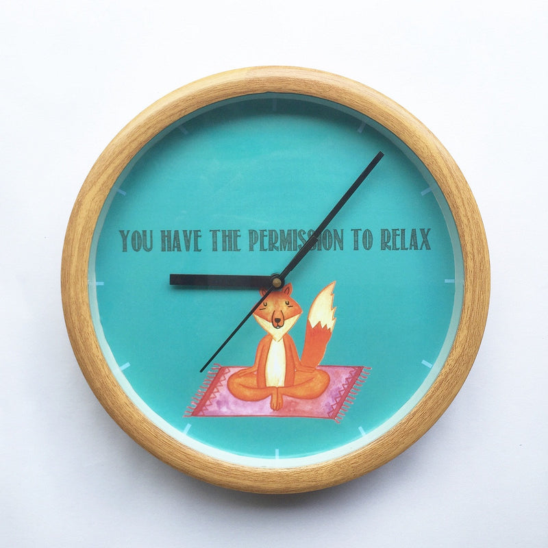 Yogi Fox wall clock