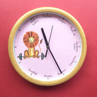 Workout Lion Wall Clock