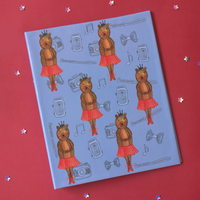 Ballet Bear: Doodled Folder
