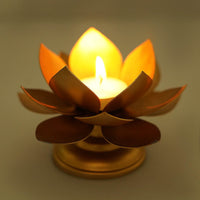 Handcrafted Lotus On Stand Design Candle Holder (Pack of 2)
