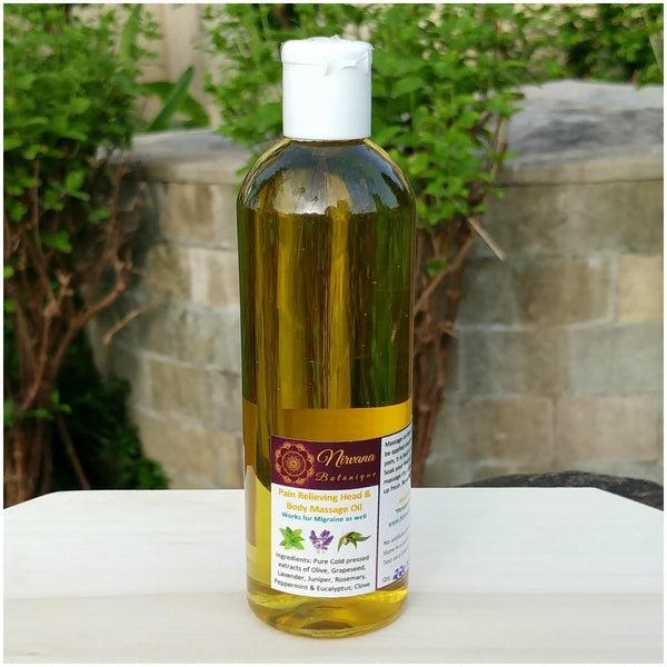 Aromatic Pain Relief Massage Oil (Head & Body) at Qtrove