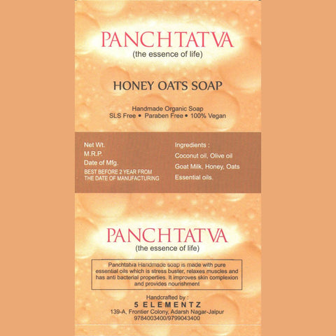 Panchtatva Natural Organic Handmade Goat Milk Scrub Soap with Honey and Oats