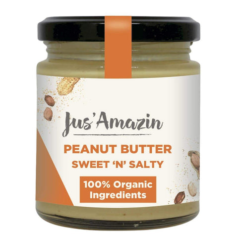 Organic Peanut Butter Creamy (Pack of 2) - High Protein, Vegan