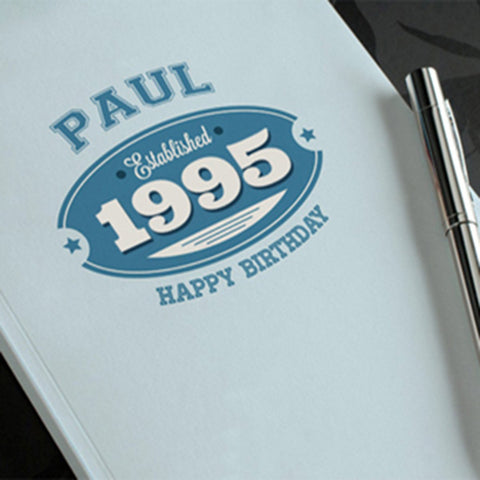 Personalized Notebook Established 1995 For Him