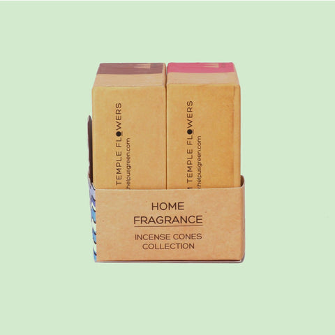 Phool Tuberose & Vetiver Incense Cones (Organic Home Fragrance)