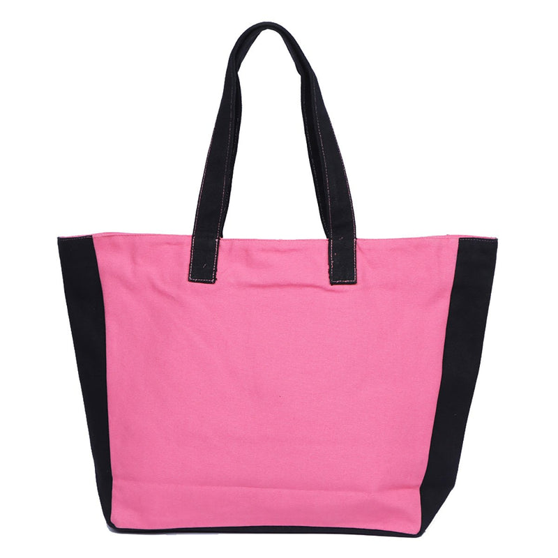 Pink Cotton Canvas Tote Bag