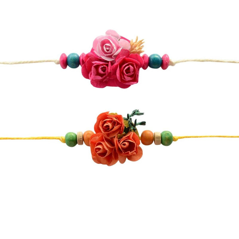 Plantable Floral Eco-friendly Rakhi for Brother  - 2 items