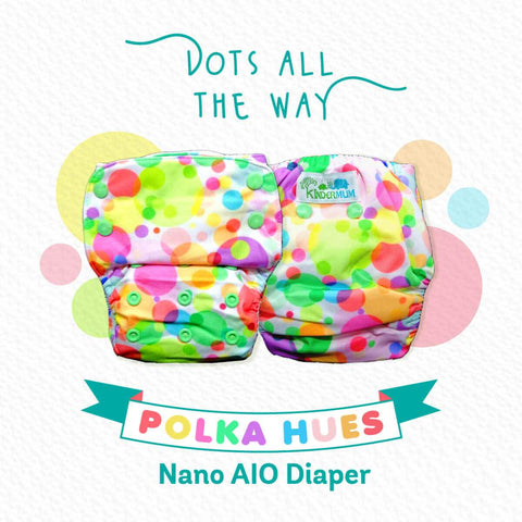 Nano AIO With 2 Organic Cotton Inserts (Polka Hues)