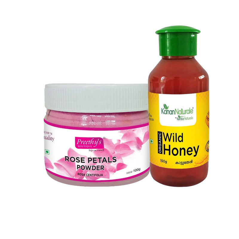 Rose Petals Powder And Wild Honey
