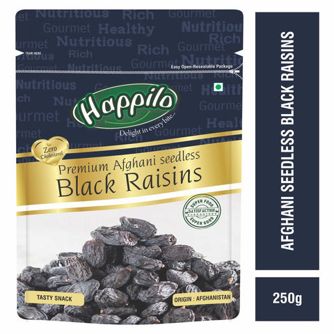 Premium Afghani Seedless Black Raisins