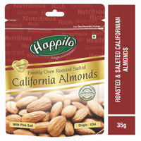 Premium Californian Almonds Roasted & Salted ( Pack of 12)