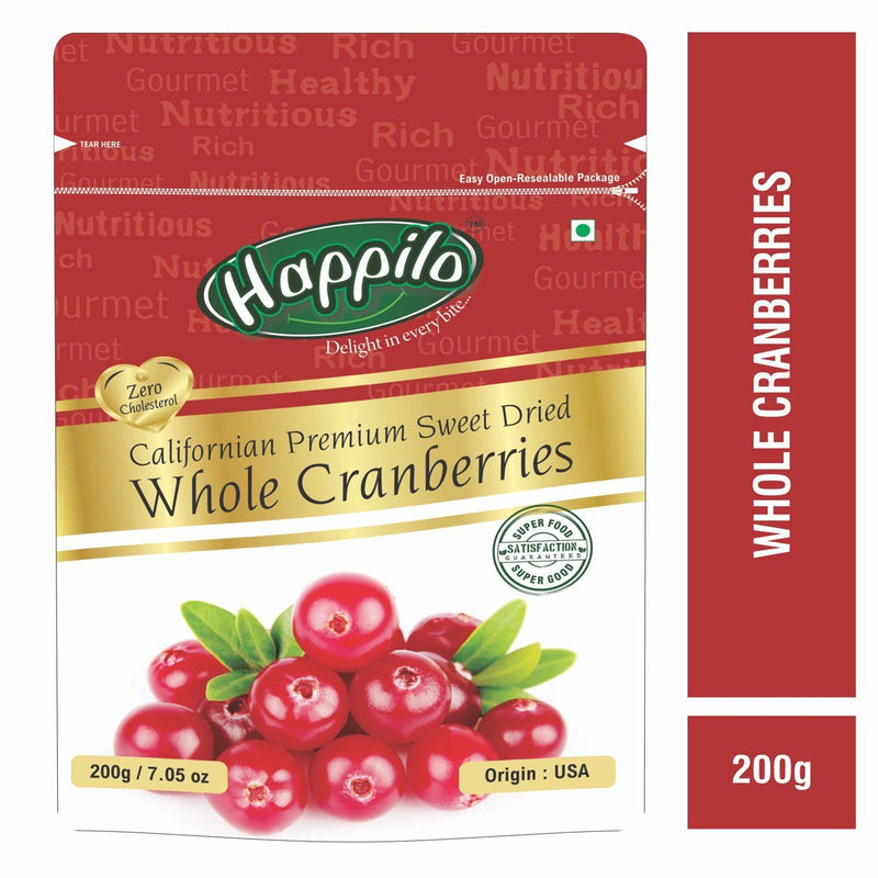 Premium Californian Whole Cranberries Dried & Sweet
