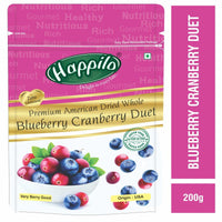 Premium Dried Whole Blueberry Cranberry Duet