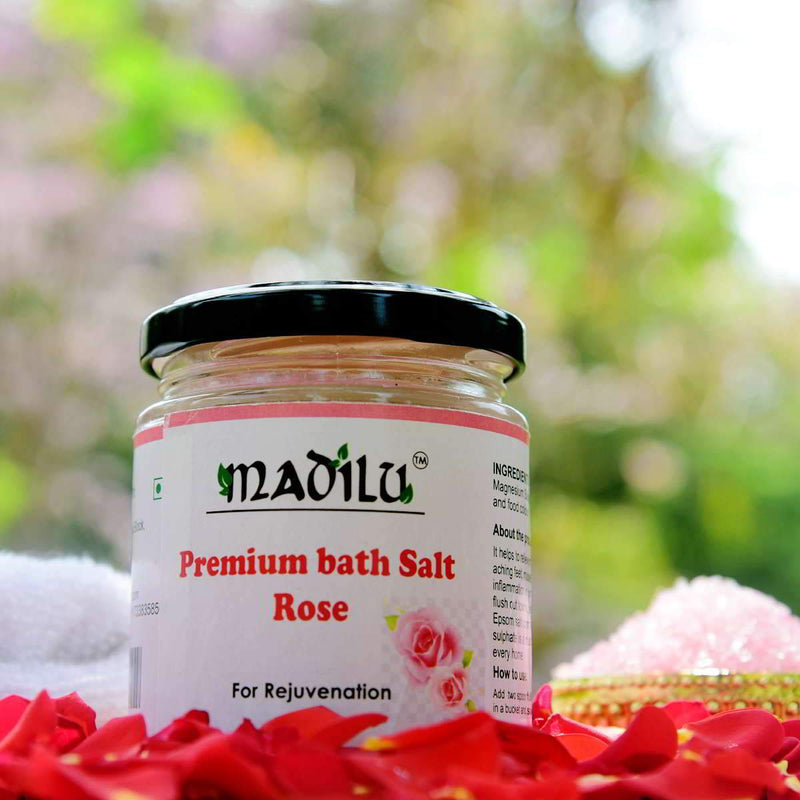Premium Epsom Bath Salt - Rose (For Relaxation & Pain Relief)